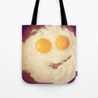 smiley egg Tote Bag