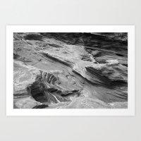 Lava Rocks at the Beach Art Print