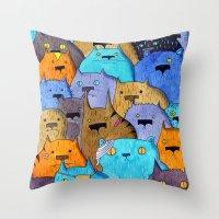 The Cats Of Verdun Throw Pillow