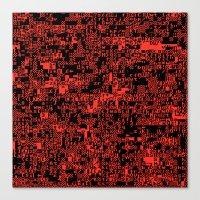 ASCII Canvas Print