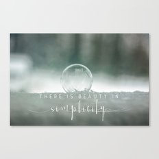 Beauty In Simplicity Canvas Print