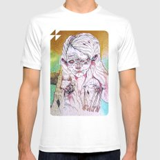 g a i n White SMALL Mens Fitted Tee