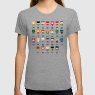 Superhero Alphabet Womens Fitted Tee Tri-Grey SMALL