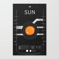 OMG SPACE: Sun 1960 - 2010 Canvas Print