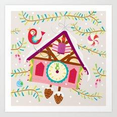 cuckoo for christmas Art Print