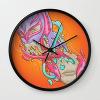 Happily Melting Rey Myst… Wall Clock