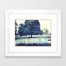 Hyde Park Chairs Framed Art Print