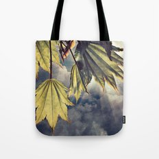 full moon maple sky Tote Bag