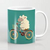 Lamb On The Bike Mug