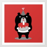 Cake Bear Art Print
