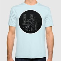 City Nights, City Lights Mens Fitted Tee Light Blue SMALL