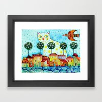 Rainy spring Framed Art Print