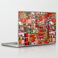 italy Laptop & iPad Skins featuring Manarola, Italy  by Marcella Wylie