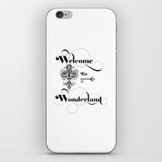 Alice In Wonderland Welcome To Wonderland iPhone & iPod Skin