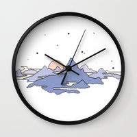 MOUNTAINS IN THE SKY Wall Clock