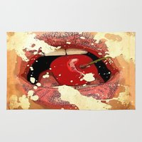 Red Cherry Lips Rug