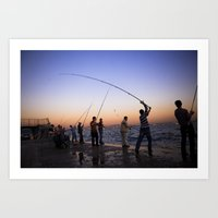 istanbul fishers Art Print