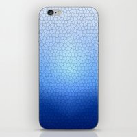Blue Stained Glass  iPhone & iPod Skin
