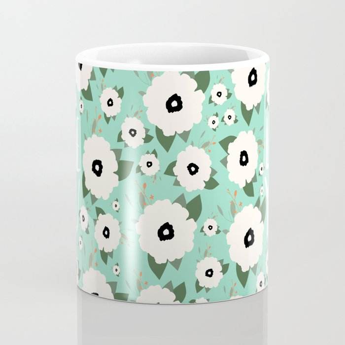 Love You Floral Turquoise Mug By Allyson Johnson Society6