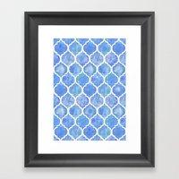 Cornflower Blue Moroccan… Framed Art Print