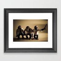 More Monkeys Framed Art Print