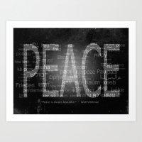 Peace is Always Beautiful Art Print