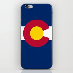 Authentic Colorado state flag (High Def file) iPhone & iPod Skin