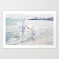 On The Shore: Thetis And… Art Print