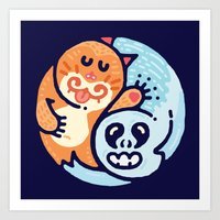 Ginger & The Spook Art Print