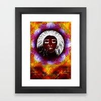 Breathe Kaleidoscope  Framed Art Print