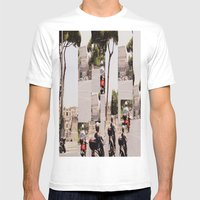 Roman Traffic Mens Fitted Tee White SMALL