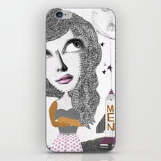If we can put one man on the moon... why not them all? iPhone & iPod Skin
