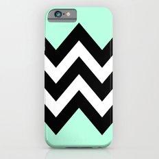 DOUBLE COLORBLOCK CHEVRON {MINT/BLACK} Slim Case iPhone 6s