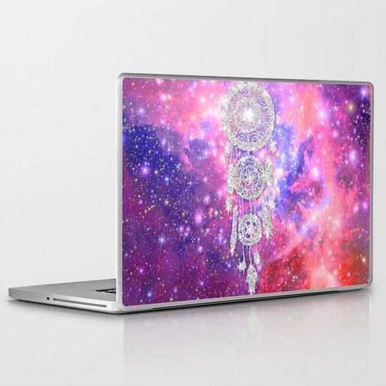 Galaxy Nebula Glitter dreamcatcher Pink Purple Space Laptop & iPad Skin