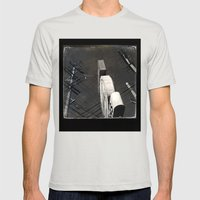 The Wizz take 2, Black and White San Francisco Mens Fitted Tee Silver SMALL