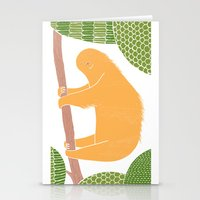 Sleepy Happy Sloth Stationery Cards