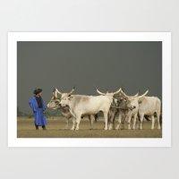 Herdsmen  Art Print