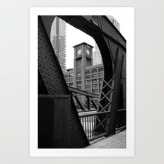 Clark Street Bridge - Chicago Art Print