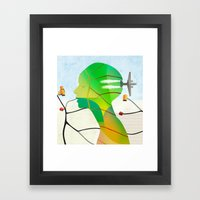 Mapas Framed Art Print