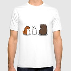 Animal Marshmallow White Mens Fitted Tee SMALL