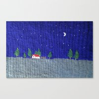 Night scenes Canvas Print