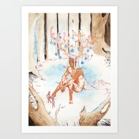On the Nature of Spirits: Fauna Art Print