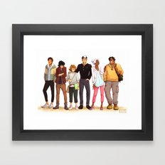 Space Kids Framed Art Print