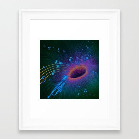 Music Void - Illustration Framed Art Print