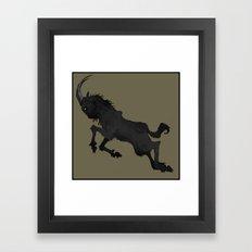 The Goat Framed Art Print