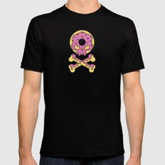 Deathly Delicious Doughnut SMALL Mens Fitted Tee Black