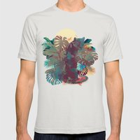 Panther Square Mens Fitted Tee Silver SMALL