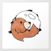 Moonbear Art Print