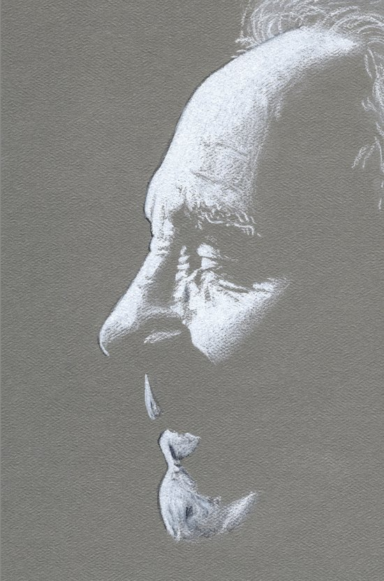 Old Man Drawing Art Print