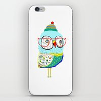 Bobble Hat Owl. iPhone & iPod Skin